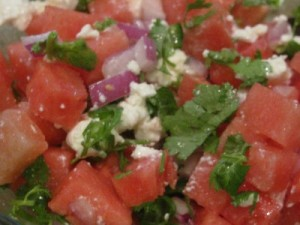 watersalad 300x225 Watermelon and Feta Salad Recipe