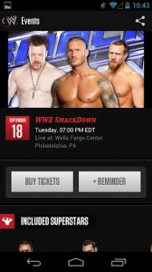 wwe screenshot 1 168x300 WWE releases official app for SmartPhones #WWEMoms