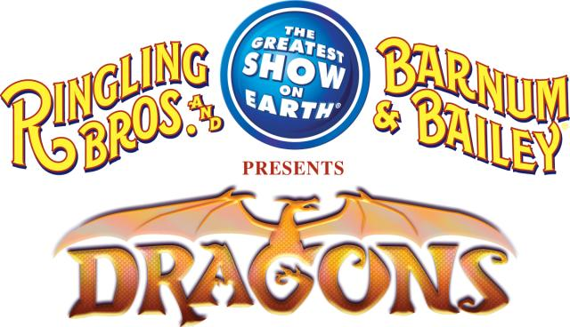 B142 Logo Ringling Bros. and Barnum & Bailey presents DRAGONS at The Huntington Center in Toledo