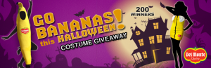 go bananas 300x97 Del Monte Fresh Produce will be giving away 200 banana costumes!