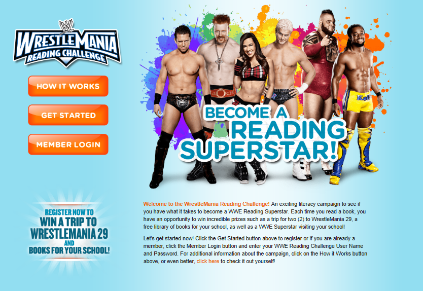 WMRC Screenshot WWE TAKE THE WRESTLEMANIA READING CHALLENGE ONLINE #WWEMoms
