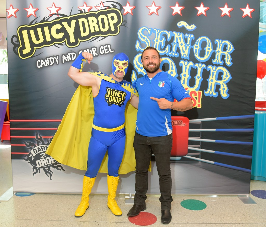 Juicy Drop and WWE Superstar Santino Marella Dare Kids to Test Their Limits at Dylan's Candy Bar July 2nd Benefitting Champions Against Bullying