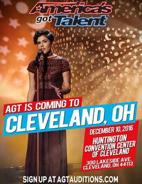 December 10 – America's Got Talent Auditions in Cleveland, Ohio!